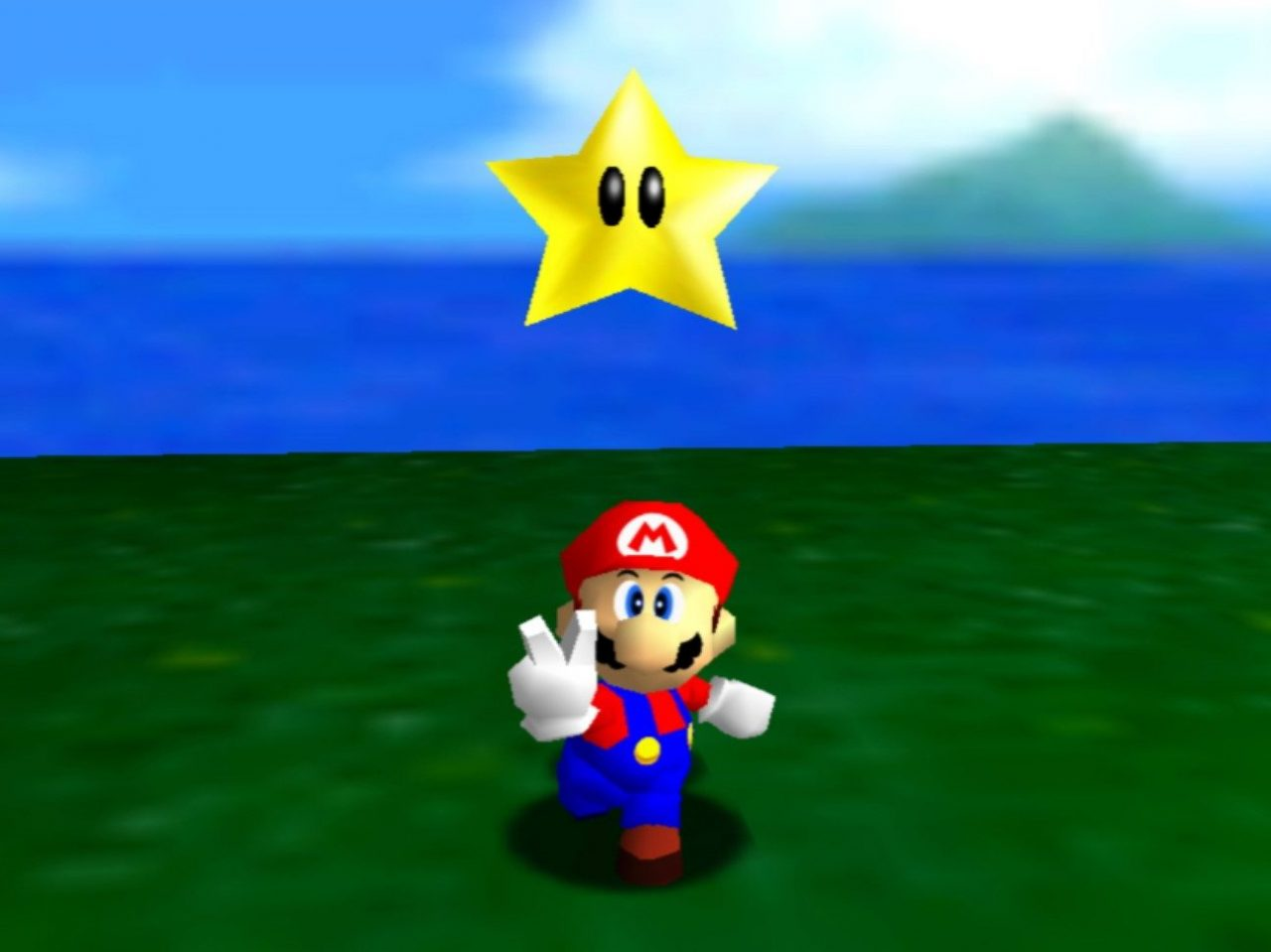 Une capture de Super Mario 64