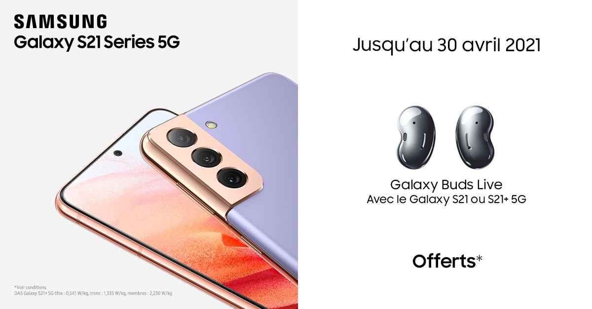 Samsung propose une opération intéressante sur l'achat d'un Galaxy S21 5G ou d'un Galaxy S21+ 5G