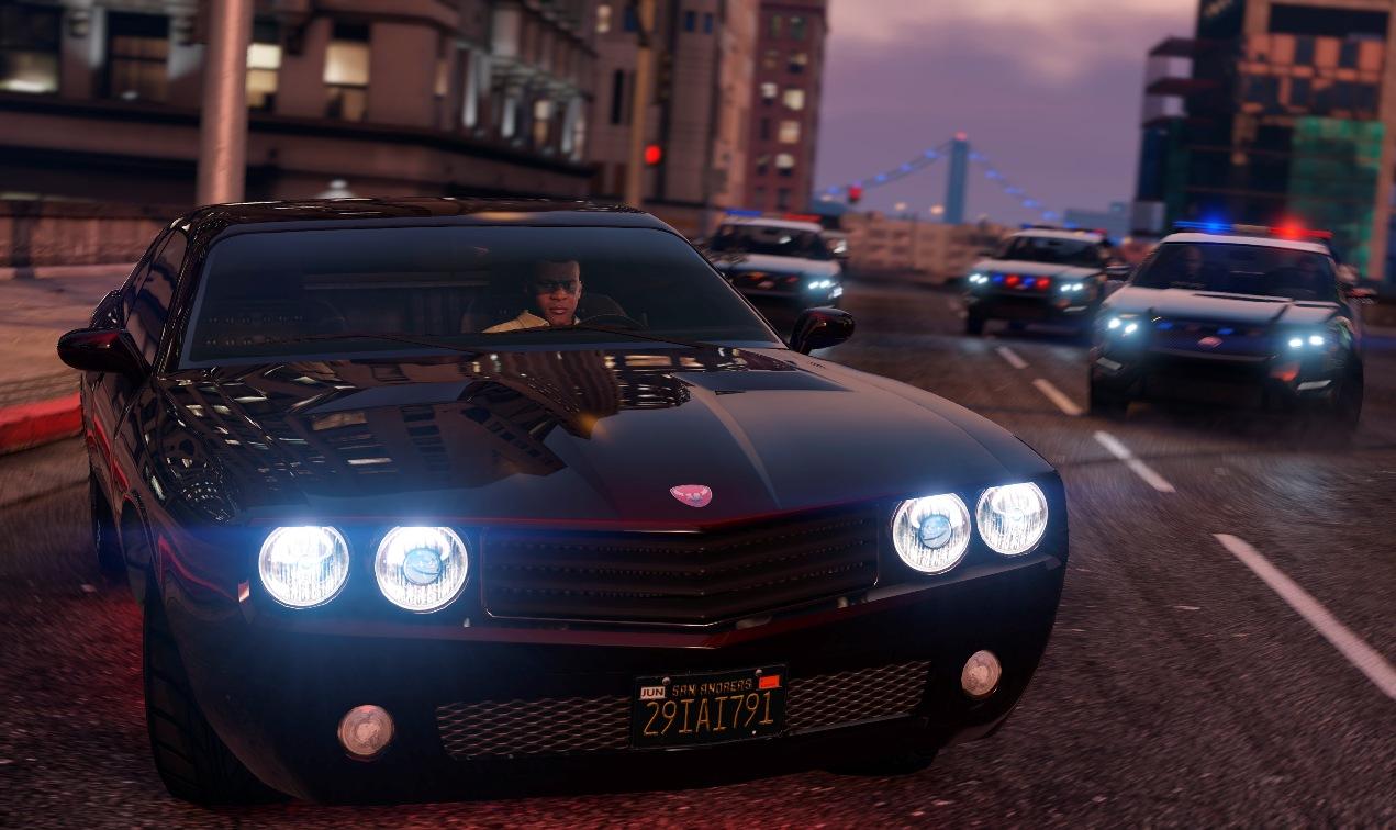 Une voiture dans GTA 5