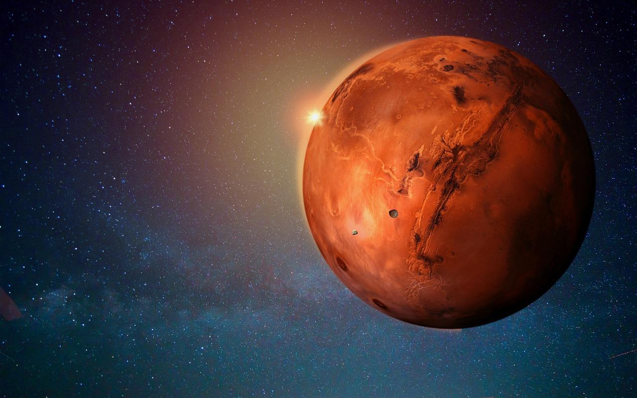 La planète Mars, dans le froid spatial
