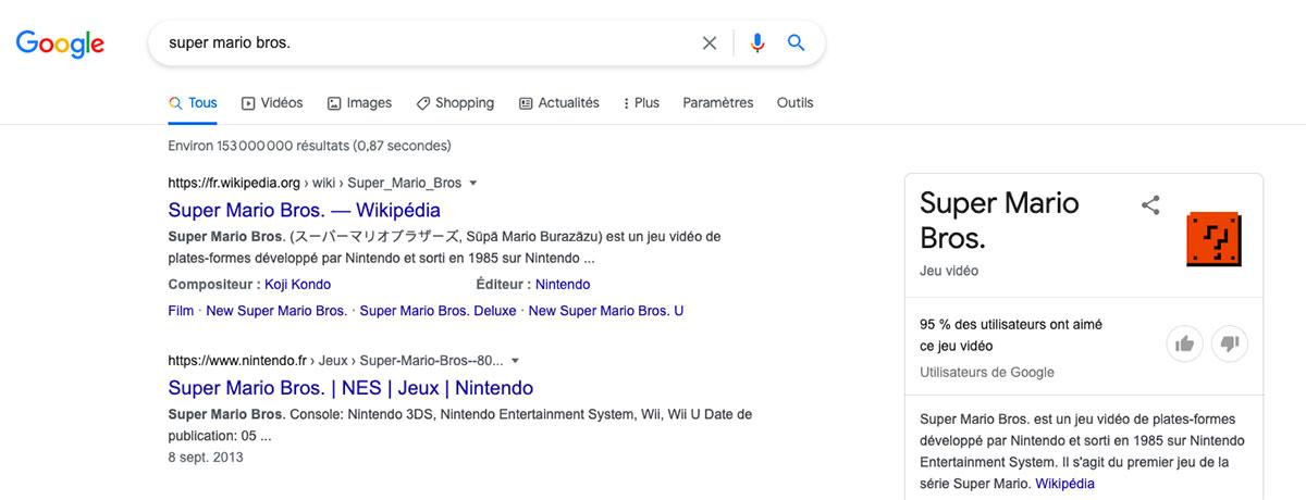 Google a voulu rendre hommage à Mario et Luigi