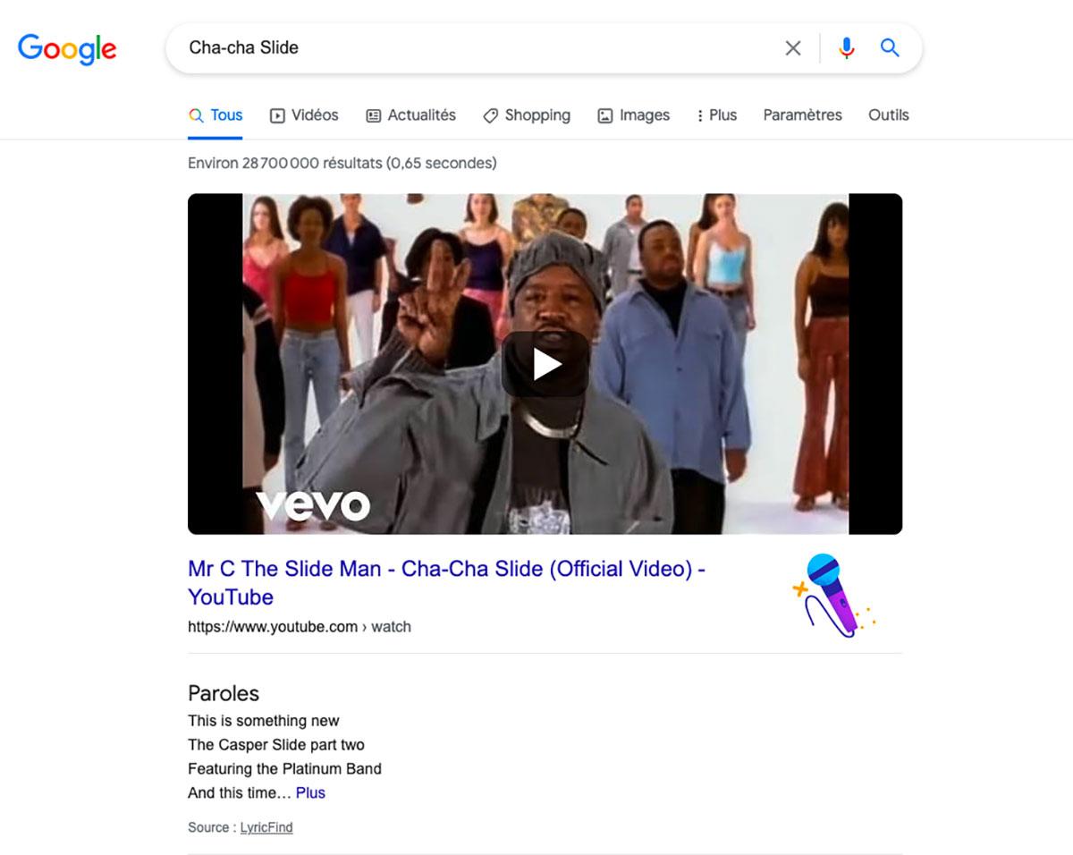 Google peut aussi vous faire danser