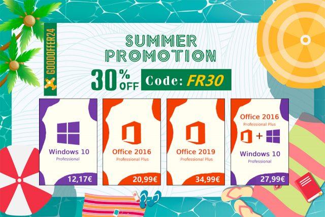 Windows 10 à 10 €, Office à 20 €, l'ensemble à moins de 30 €