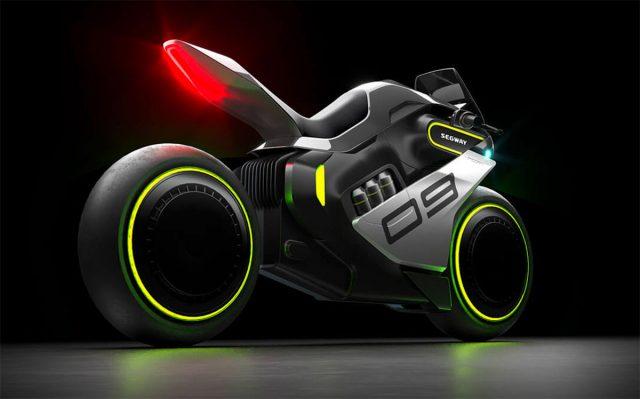 Segway Apex H2, la moto hybride pour les fans de TRON
