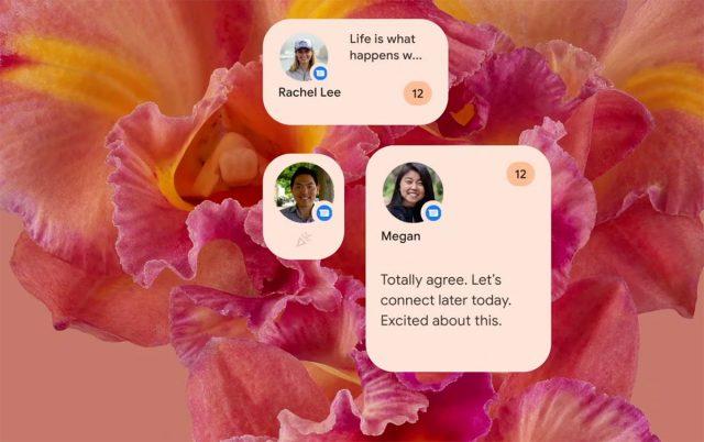 Android 12 pourra présenter les widgets de différentes manières
