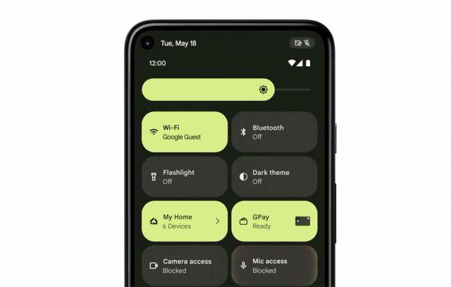 Android 12 intègre désormais un centre de contrôle, qui donne la main sur les principaux réglages