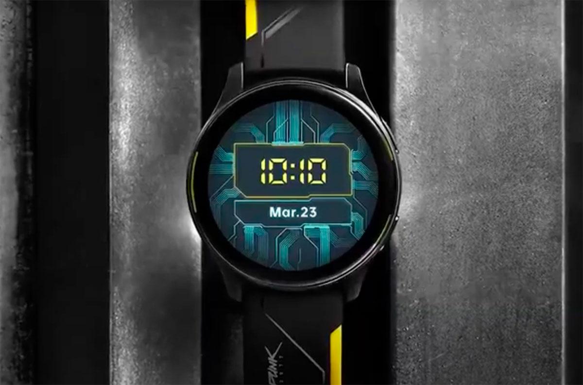 Une OnePlus Watch aux couleurs de Cyberpunk 2077