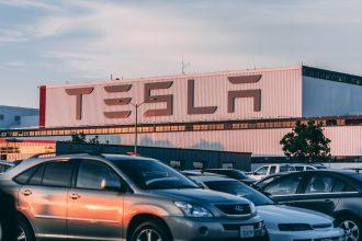Une boutique Tesla