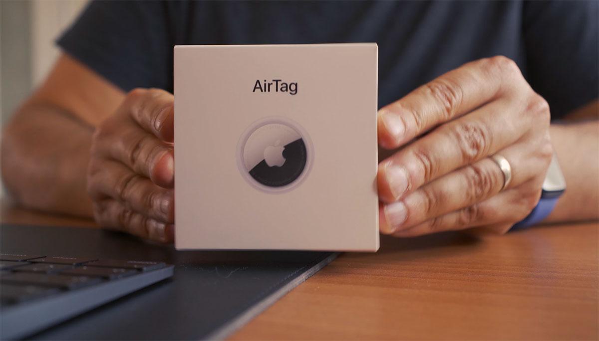 La boîte du AirTag lorsqu'il est vendu tout seul