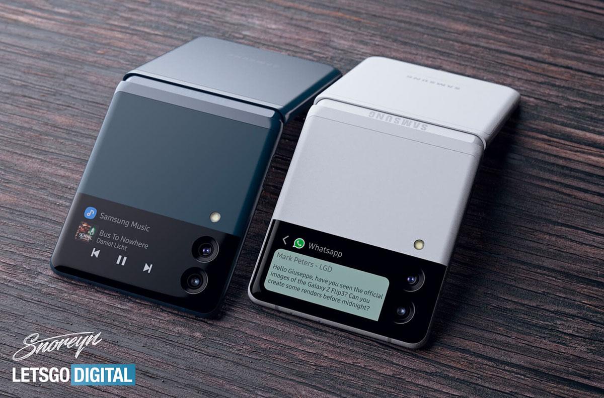 Le Galaxy Z Flip 3 - crédits Let's Go Digital & Giuseppe Spinelli