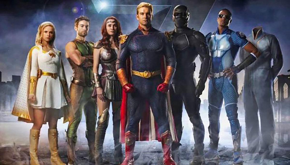 Un poster de The Boys, la série de super héros la plus déjantée