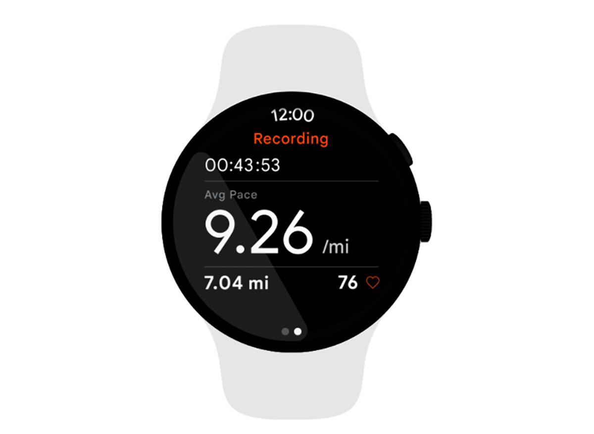 Wear OS 3 sur une montre connectée