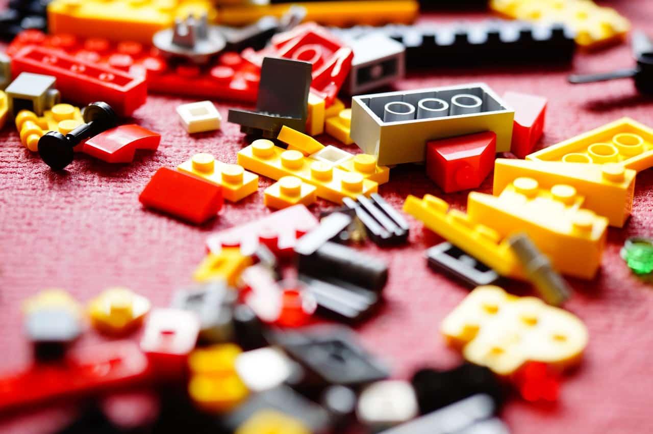 Des briques de LEGO en tas