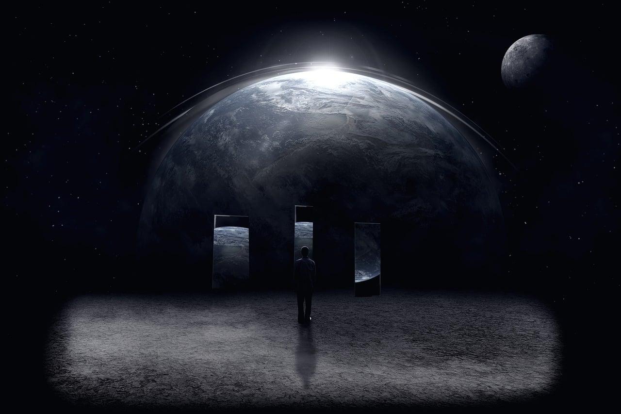 Une photo montrant la Terre vue depuis l'espace