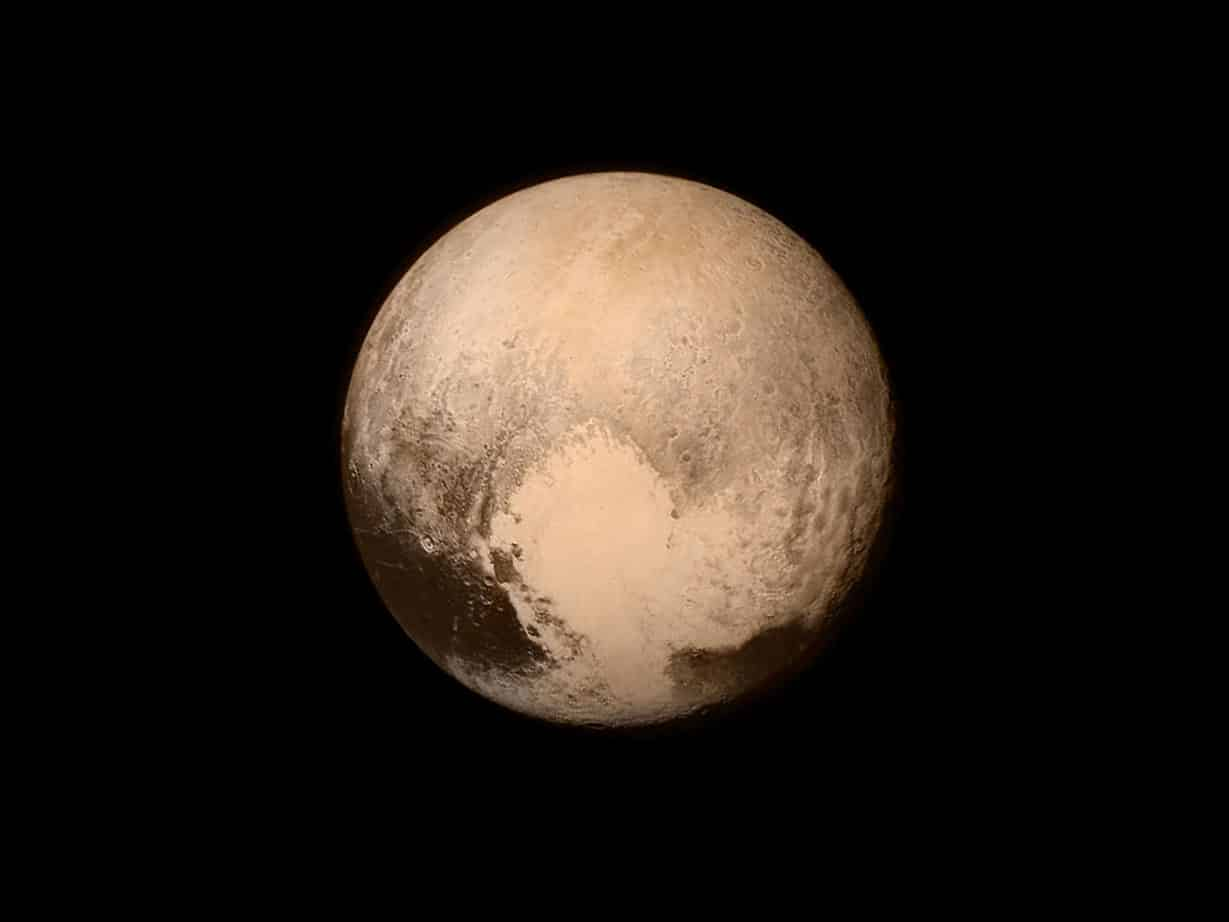 Une photo de Pluton
