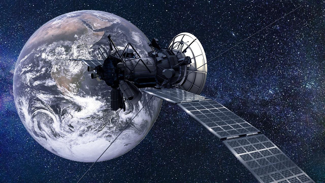 Un satellite dans l'orbite terrestre