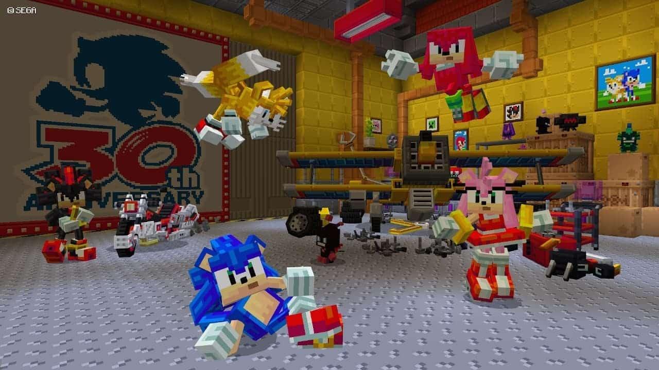 Sonic dans Minecraft
