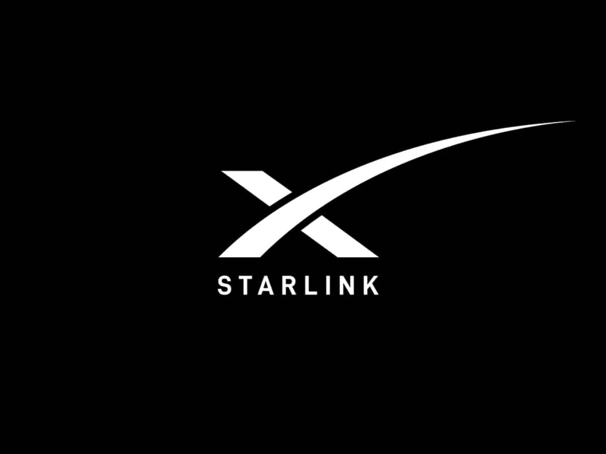 Le logo de Starlink, l'internet par satellite de SpaceX