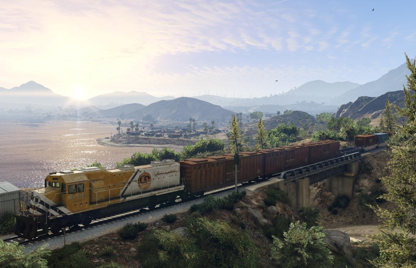 Le train de Los Santos, dans GTA 5