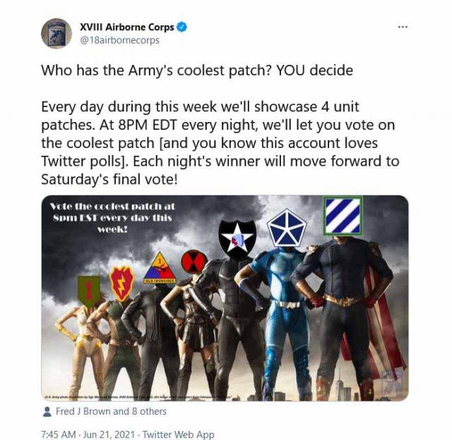 La gaffe de l'armée américaine