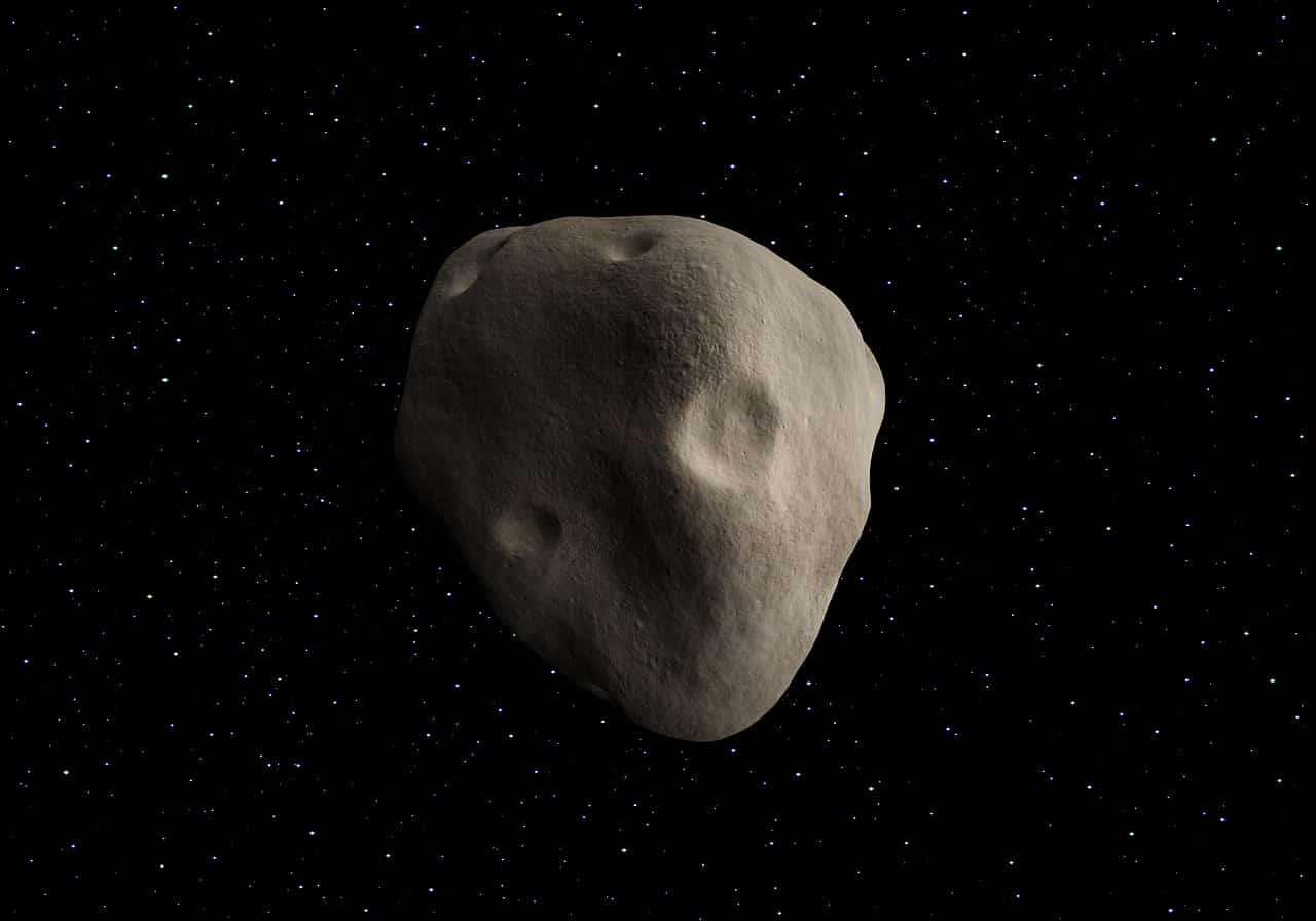 Un astéroïde dans l'univers