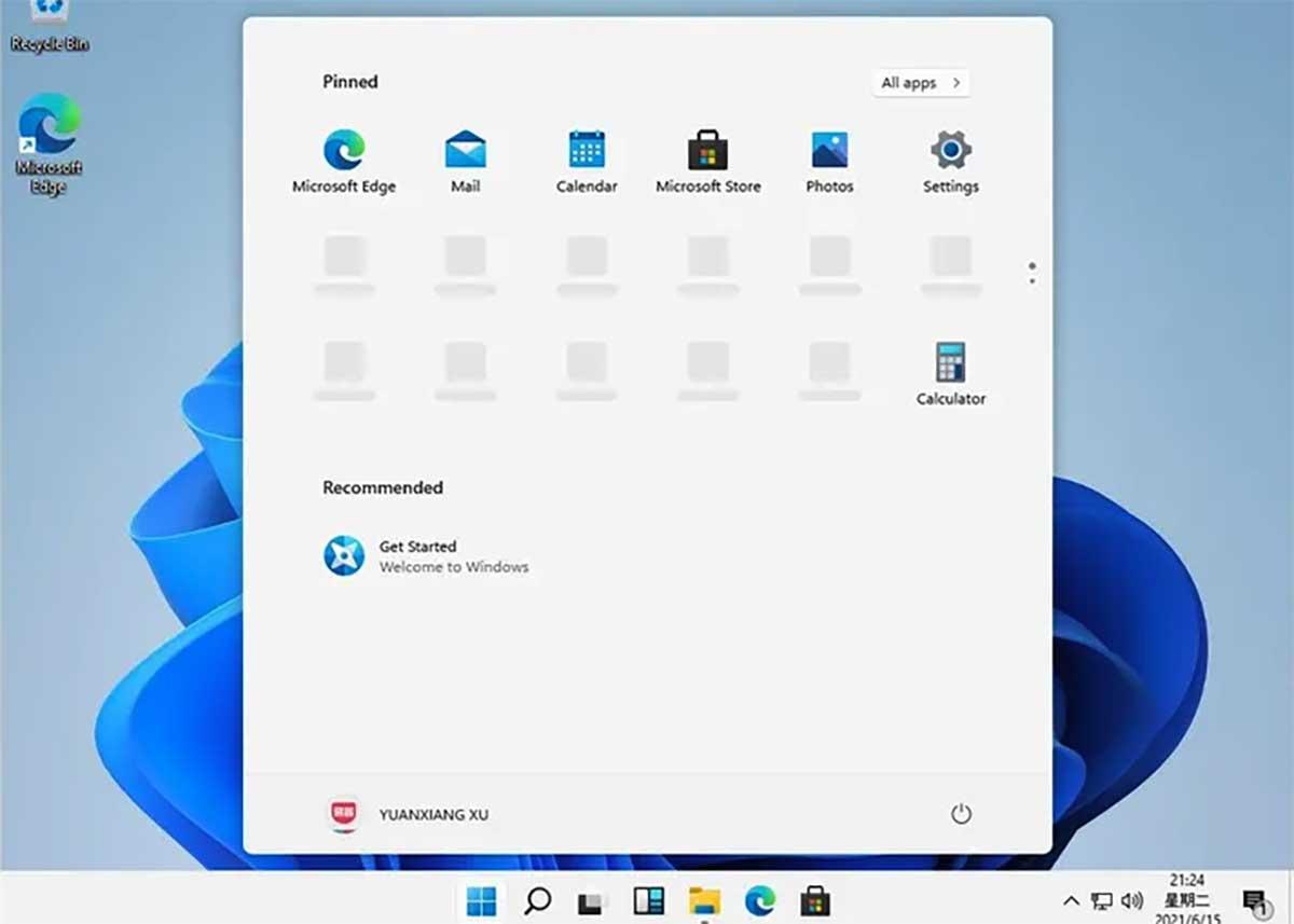 L'interface de Windows 11