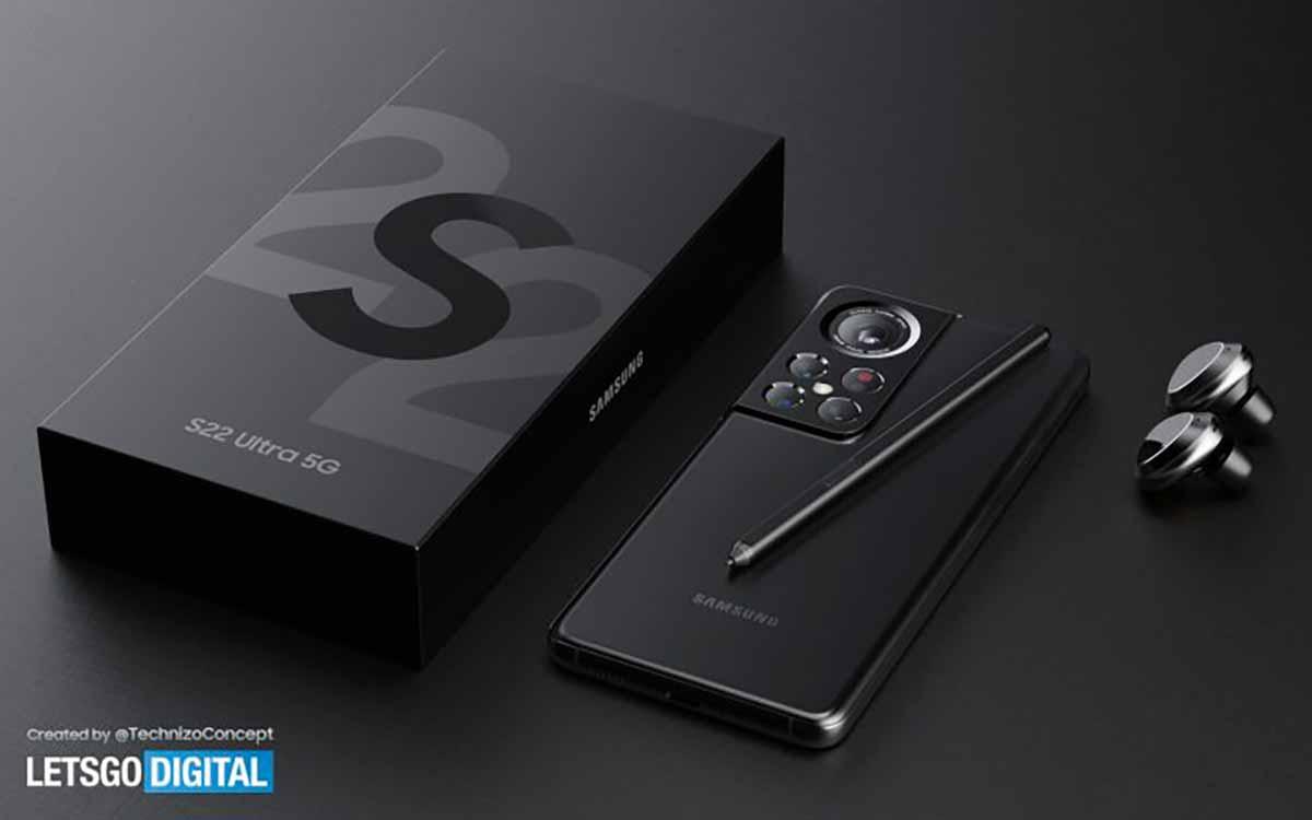 Un concept de Galaxy S22 Ultra