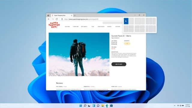 Le nouveau système de fenêtres de Windows 11