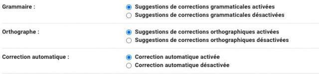 Gmail intègre plein d'outils de correction