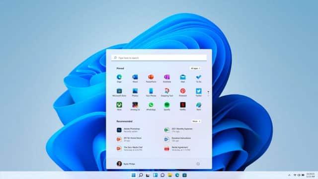 Une capture de la nouvelle interface de Windows 11
