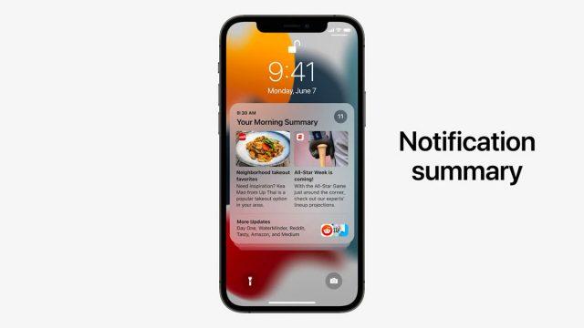 Le résumé des notifications