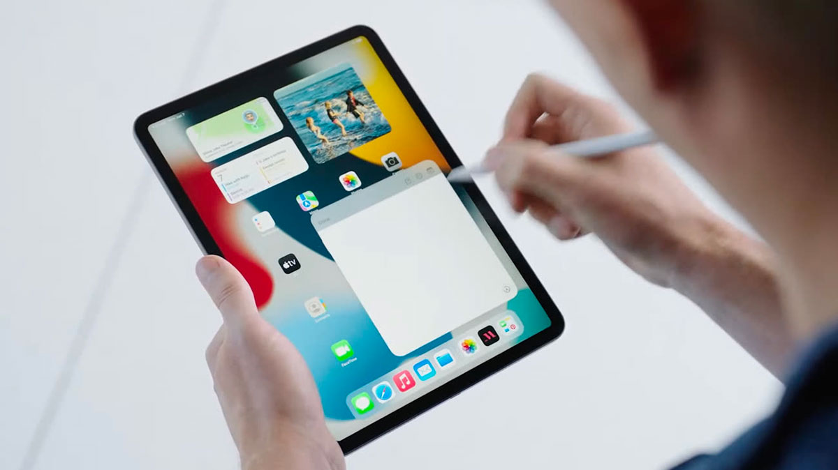 iPadOS 15 sur un iPad Pro