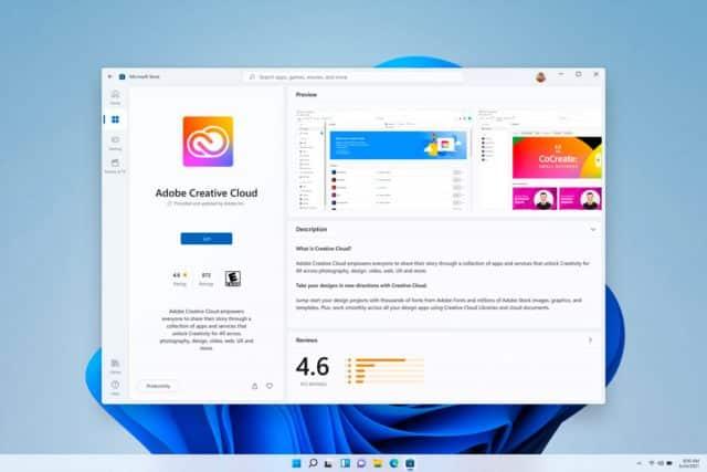 Une capture présentant le Microsoft Store de Windows 11