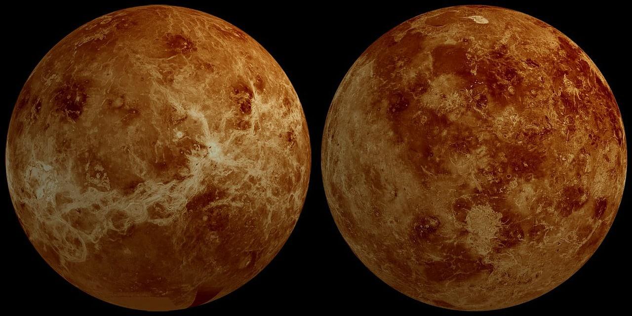 Vénus vue de l'espace
