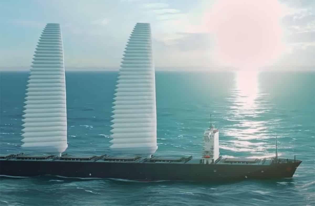 Michelin a imaginé des voiles gonflables pour réduire les émissions des paquebots