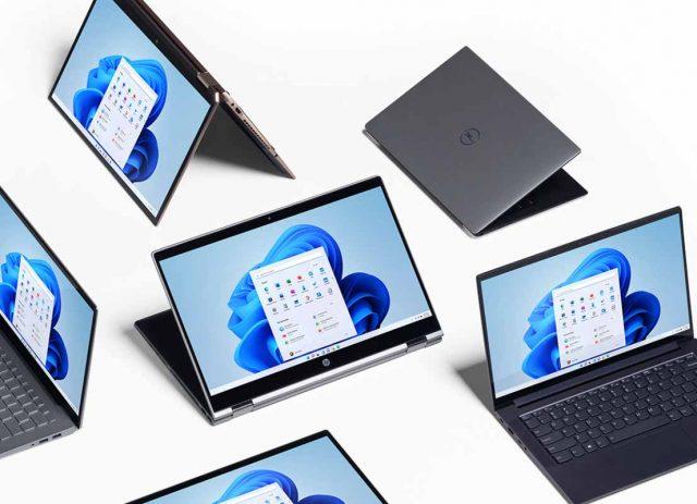 Une image mettant en scène plusieurs appareils sous Windows 11