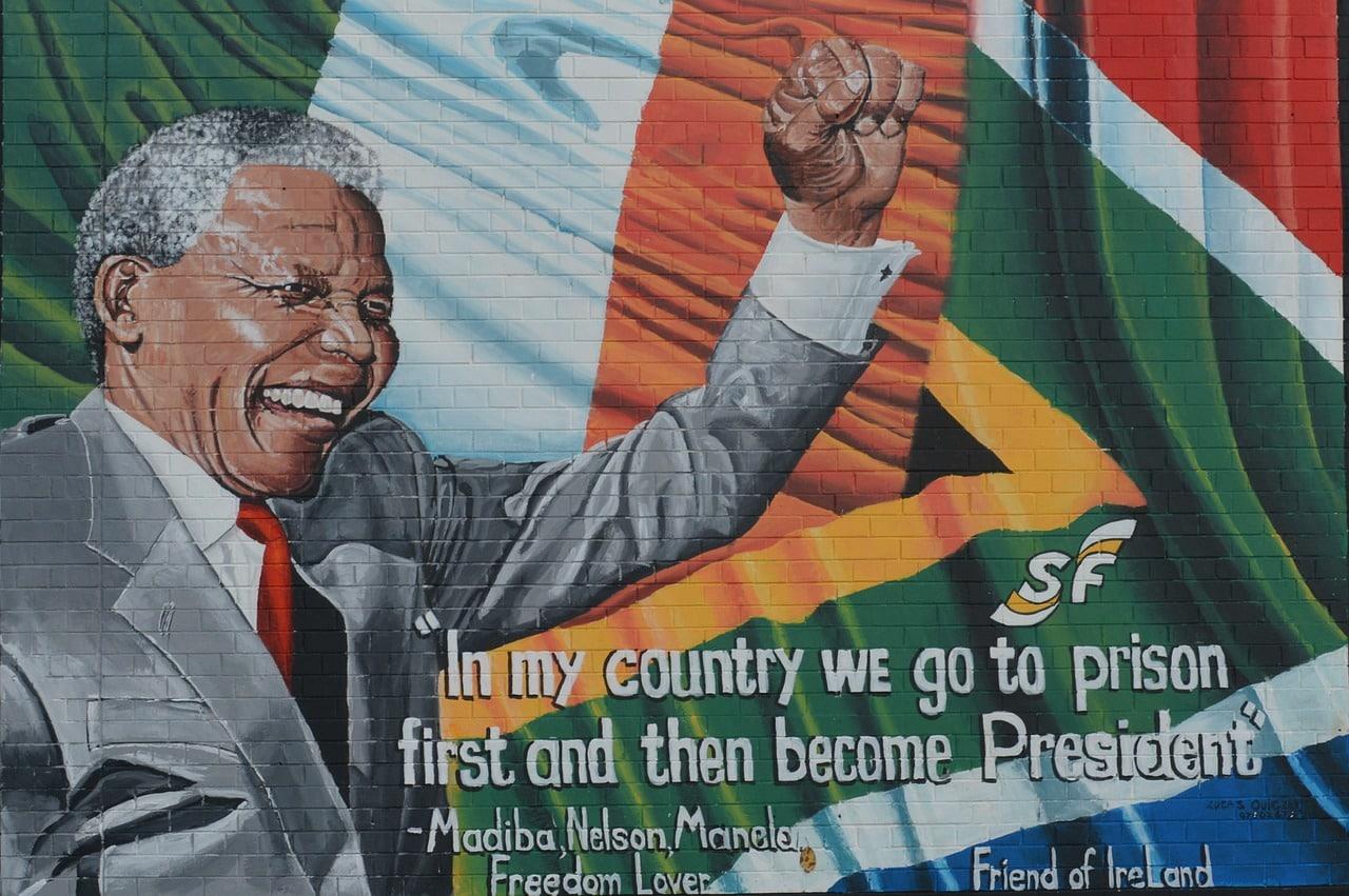 Nelson Mandela, ou plutôt une affiche