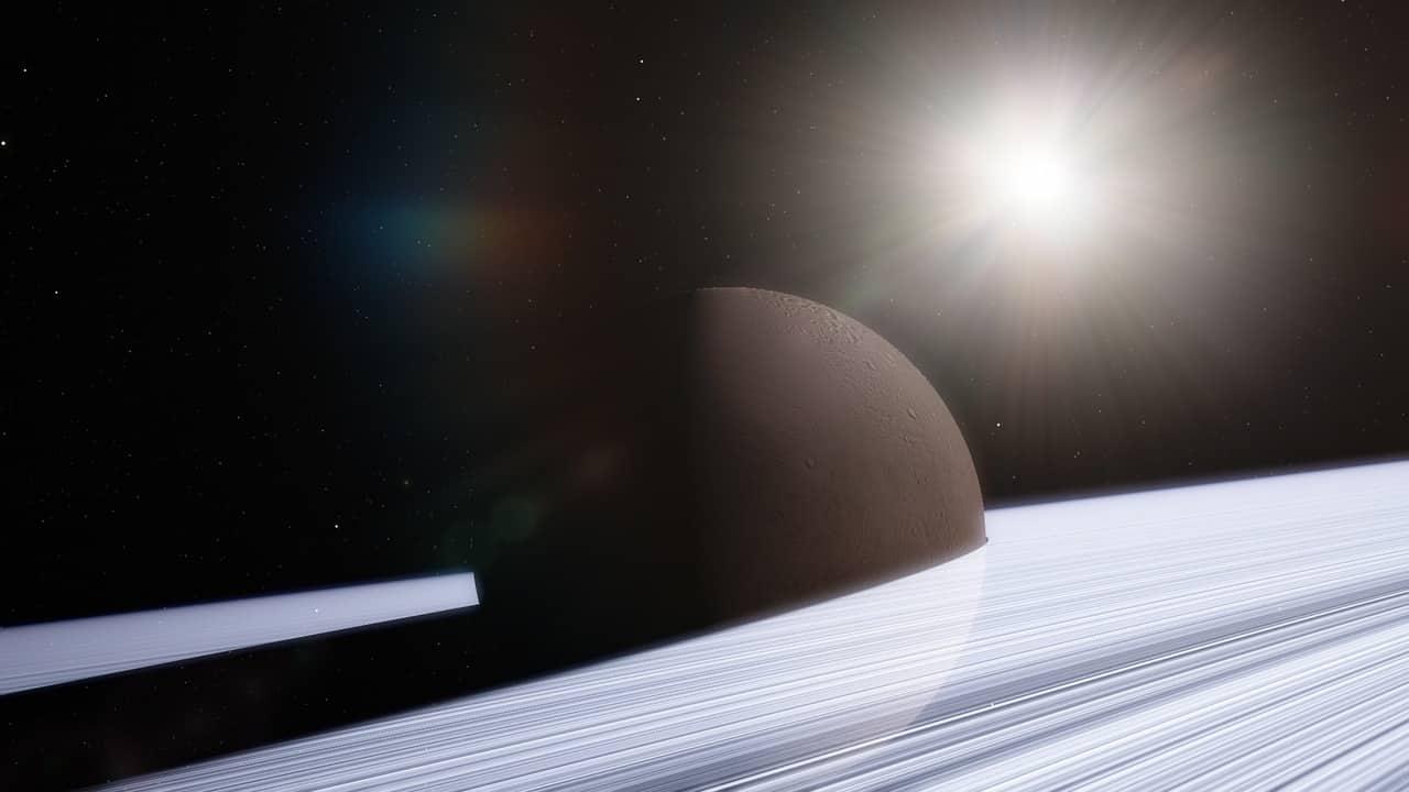 Saturne, ses anneaux et ses satellites