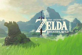 L'écran d'accueil de The Legend of Zelda Breath of the Wild