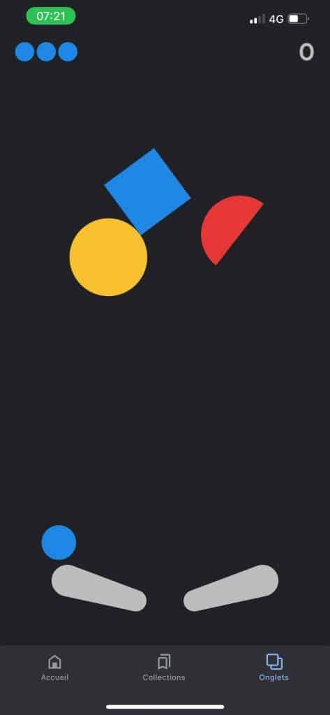 Une capture du jeu de flipper de Google