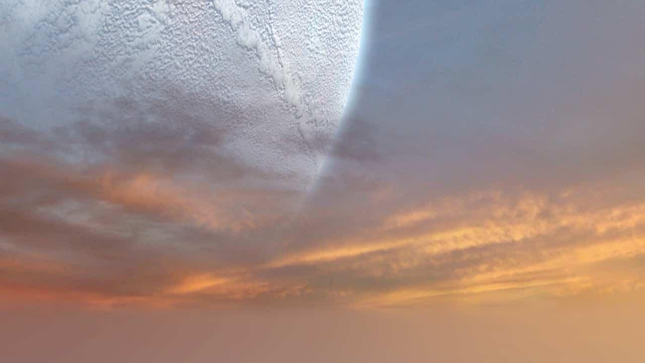 Une planète dans le ciel