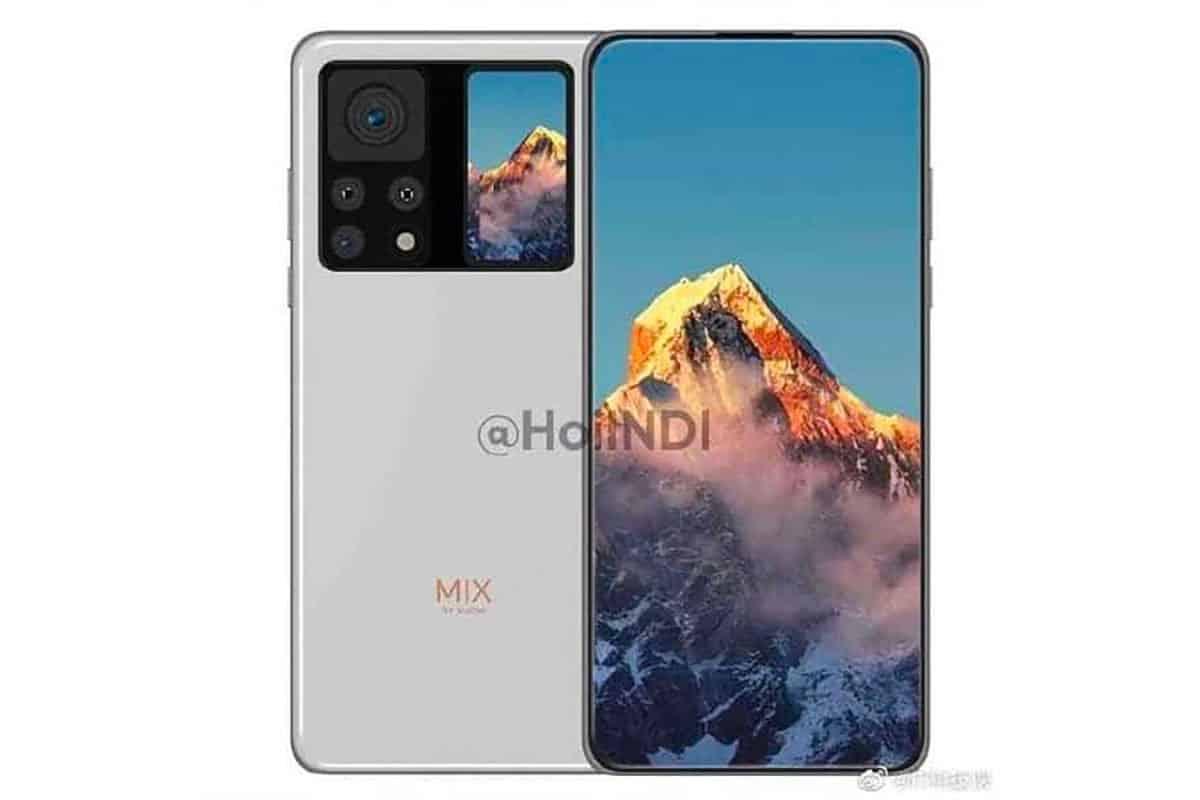 Un rendu censé représenter le Xiaomi Mi Mix 4