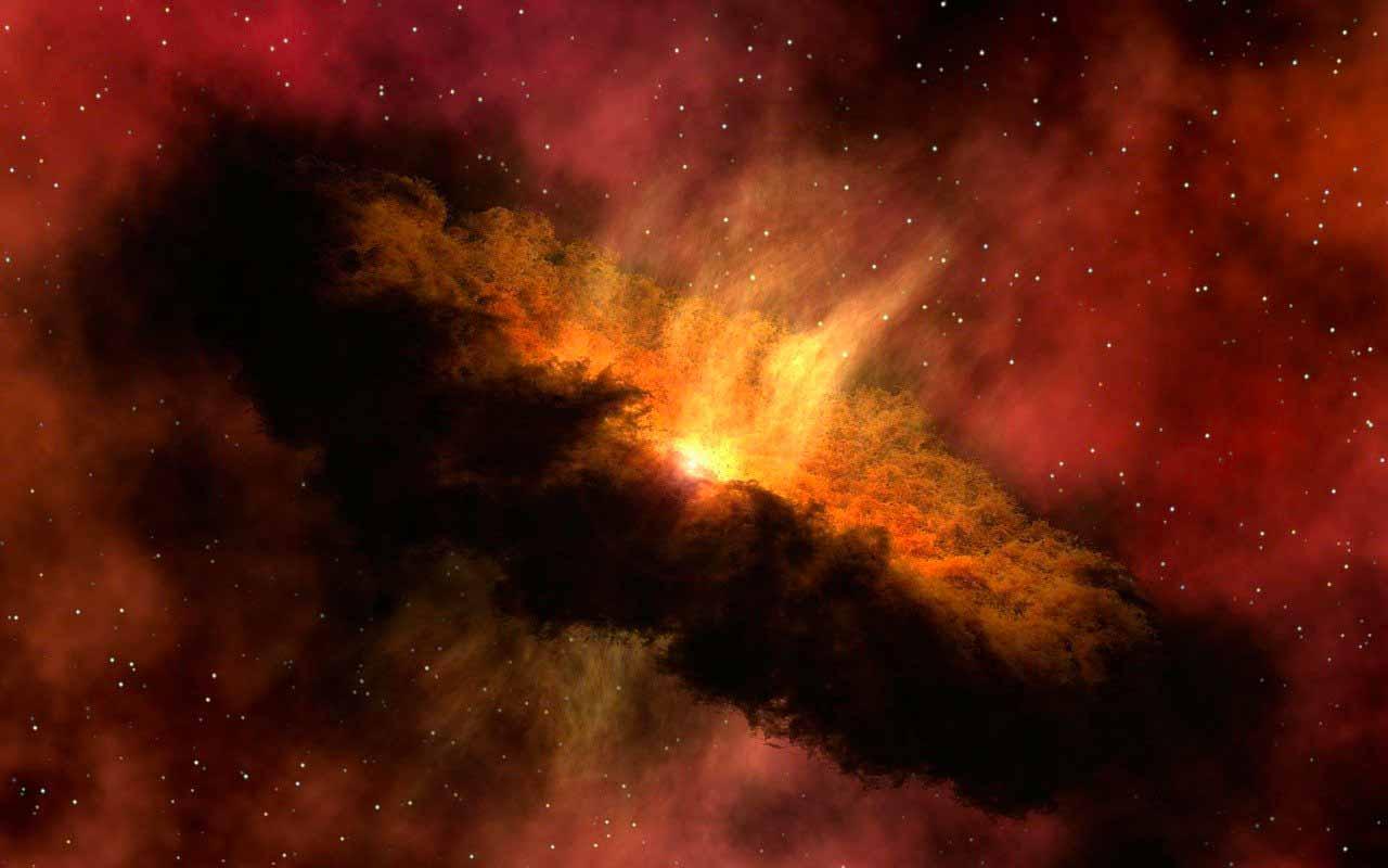 La photo d'une galaxie