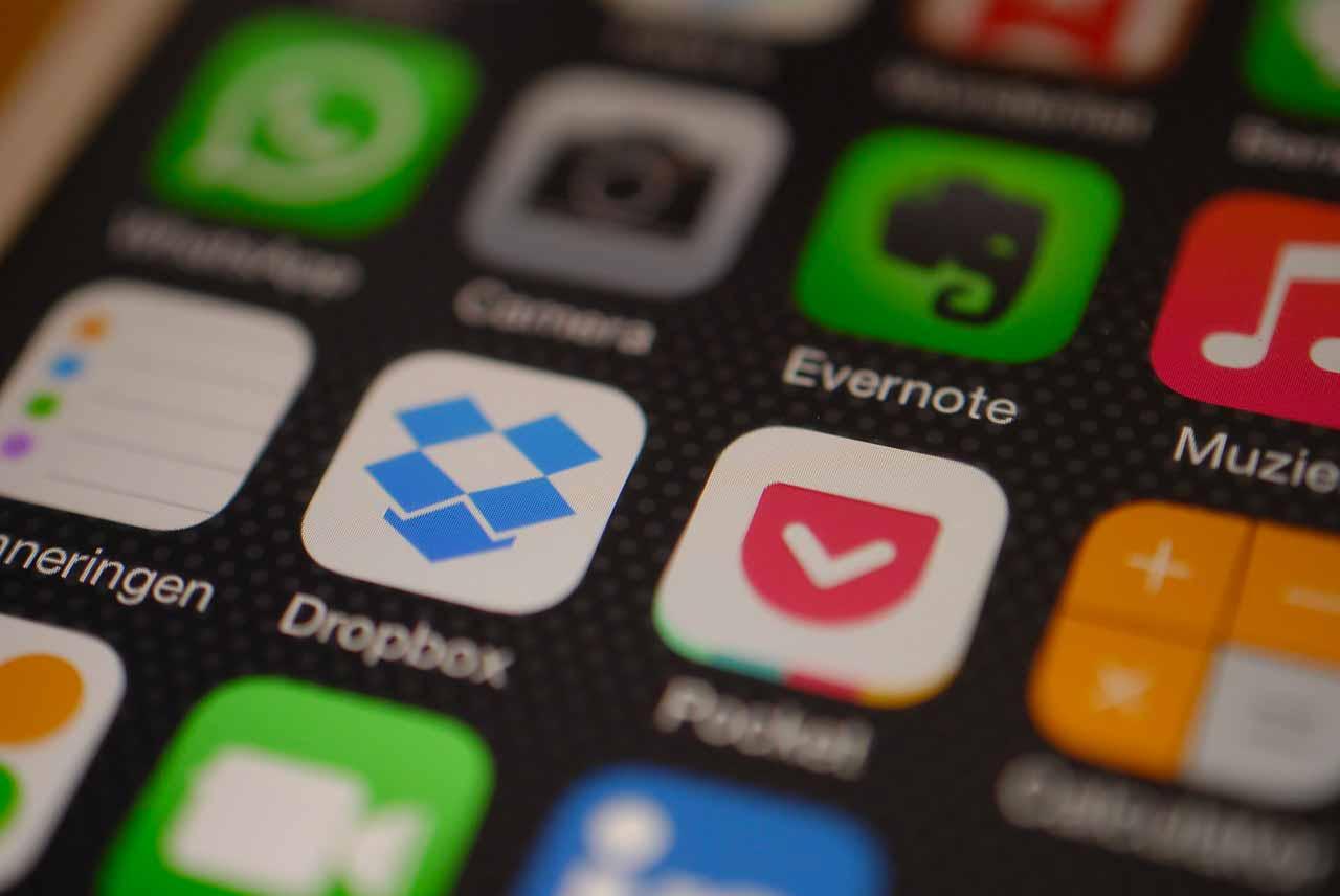 L'icône de Dropbox