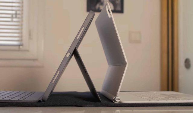Le Combo Touch placé dans le dos du Magic Keyboard