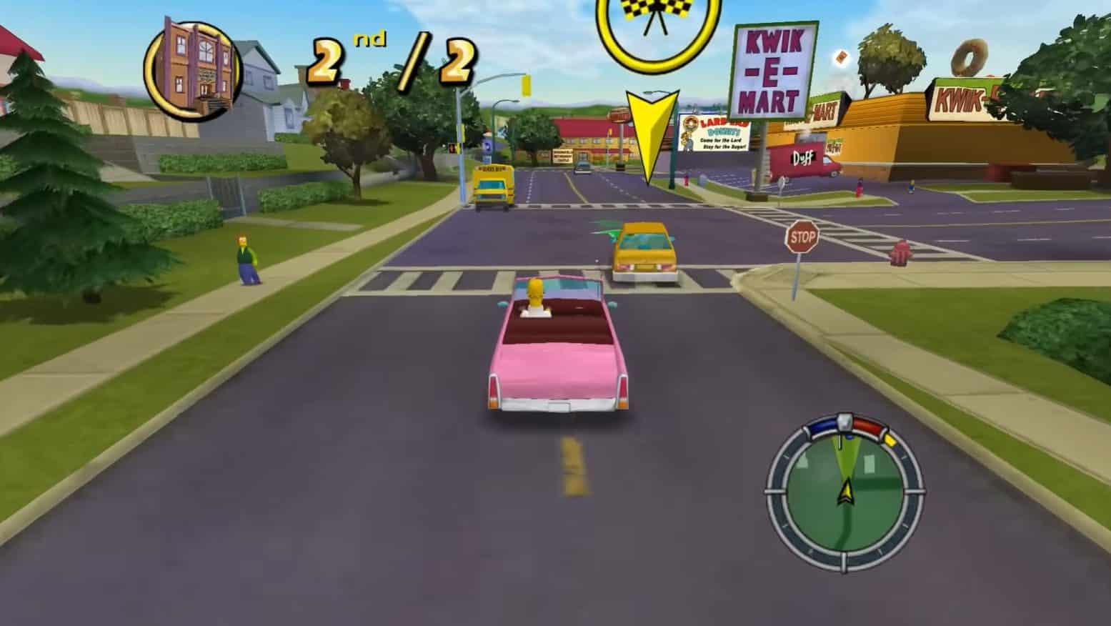 Une capture de Les Simpson Hit & Run