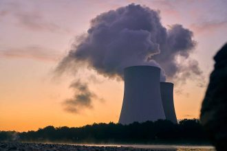 La photo d'une centrale nucléaire