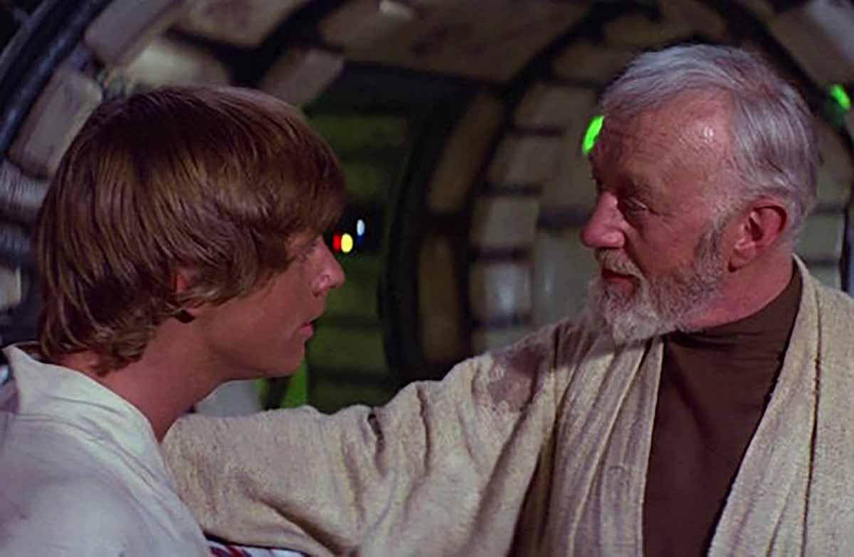 Obi-Wan et Luke dans Star Wars Episode IV