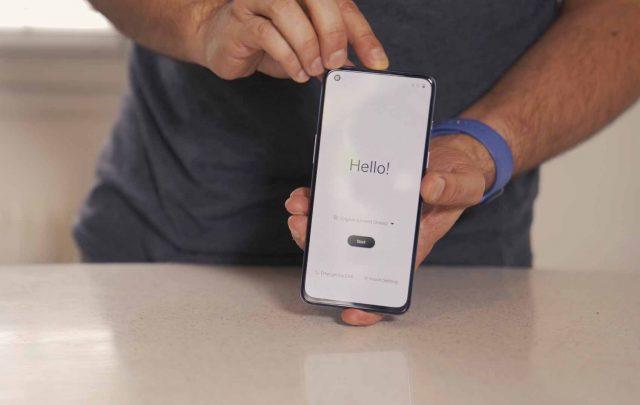 Une photo de l'écran du OnePlus Nord 2