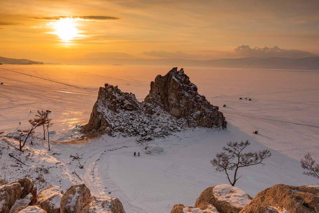 La Sibérie et une formation rocheuse